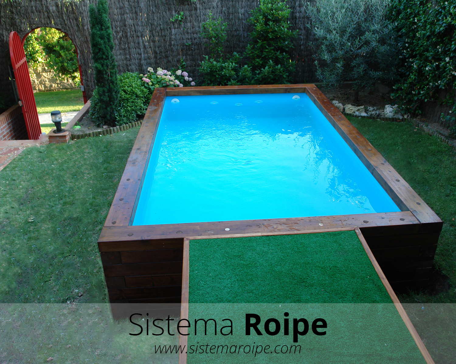 Sistema roipe for Piscina hinchable cuadrada